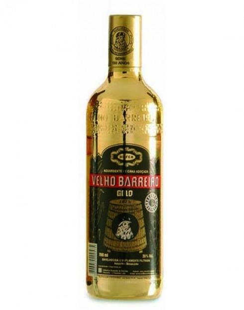 Garcias - Vinhos e Bebidas Espirituosas - CACHAÇA VELHO BARREIRO OURO ESPECIAL  1