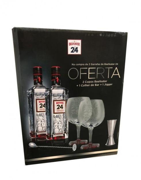 Garcias - Vinhos e Bebidas Espirituosas - GIN BEEFEATER 24 PACK (2GF 0,70L + COPOS + JIGGER + COLHER) 1