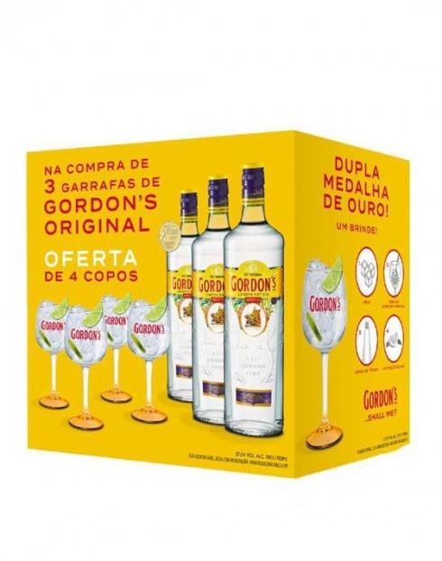 Garcias - Vinhos e Bebidas Espirituosas - GIN GORDONS (3GFS + 4COPOS) 1