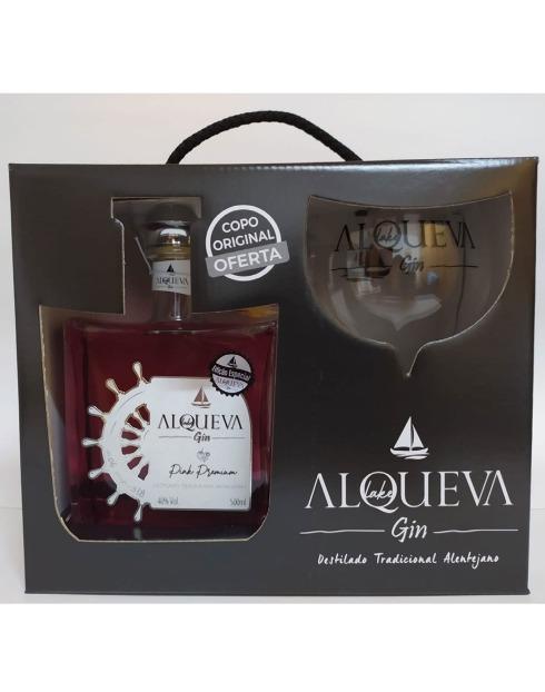 Garcias - Vinhos e Bebidas Espirituosas - GIN ALQUEVA PINK PREMIUM COM COPO 1