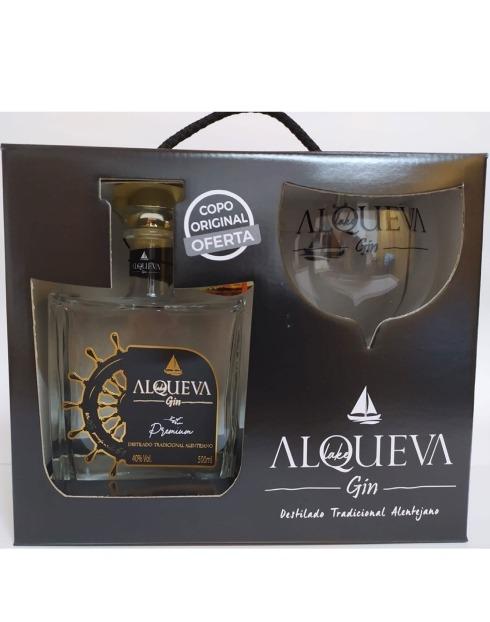 Garcias - Vinhos e Bebidas Espirituosas - GIN ALQUEVA PREMIUM COM COPO 1