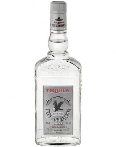 Garcias - Vinhos e Bebidas Espirituosas - TEQUILA 3 SOMBREROS BCA  1