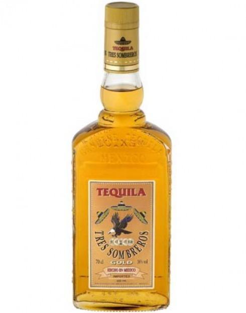 Garcias - Vinhos e Bebidas Espirituosas - TEQUILA 3 SOMBREROS GOLD  1