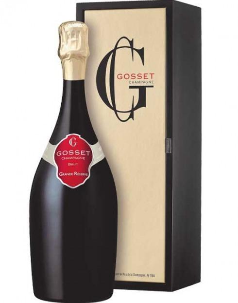 Garcias - Vinhos e Bebidas Espirituosas - CHAMPAGNE GOSSET GRAND RESERVE BRUT CX.MAD 1