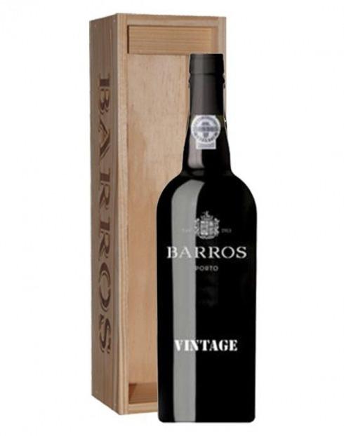 Garcias - Vinhos e Bebidas Espirituosas - VINHO PORTO BARROS VINTAGE 2005 CX. MADEIRA 1