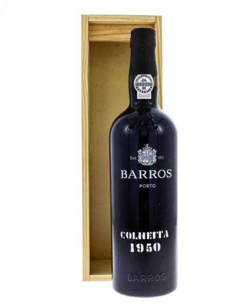 Garcias - Vinhos e Bebidas Espirituosas - VINHO PORTO BARROS COLHEITA 1950 CX. MADEIRA 1