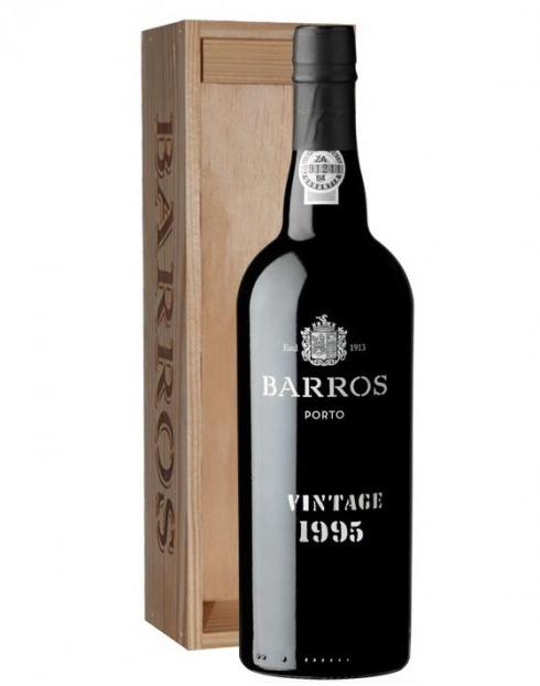 Garcias - Vinhos e Bebidas Espirituosas - VINHO PORTO BARROS VINTAGE 1995 CX. MADEIRA 1