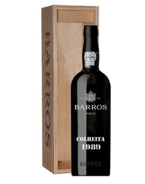 Garcias - Vinhos e Bebidas Espirituosas - VINHO PORTO BARROS COLHEITA 1989 CX. MADEIRA 1