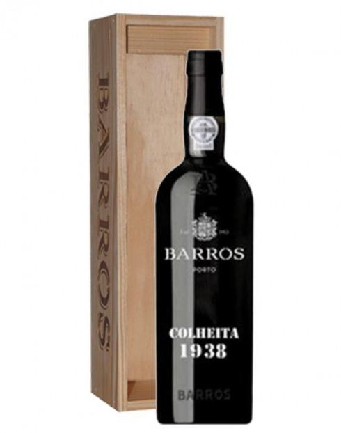 Garcias - Vinhos e Bebidas Espirituosas - VINHO PORTO BARROS COLHEITA 1938 CX. MADEIRA 1