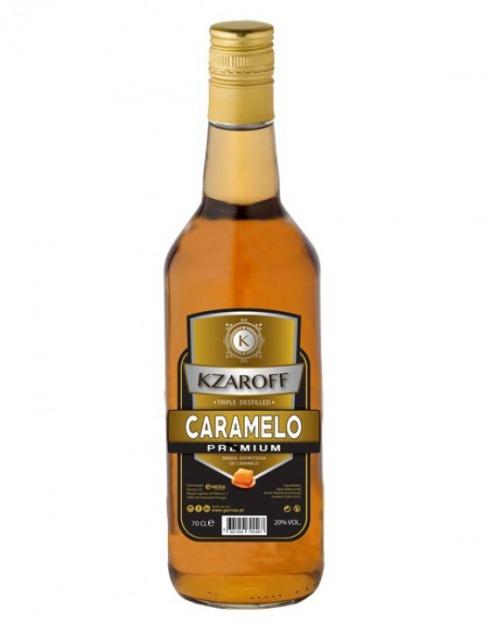 Garcias - Vinhos e Bebidas Espirituosas - LICOR VODKA KZAROFF CARAMELO 1