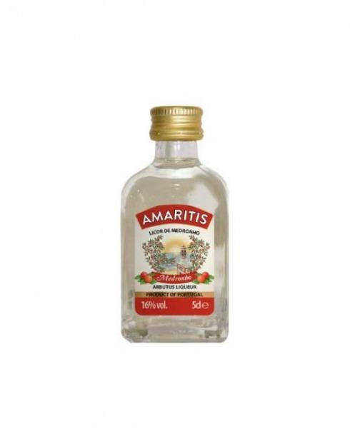 Garcias - Vinhos e Bebidas Espirituosas - LICOR MEDRONHO AMARITIS MINIATURA 1