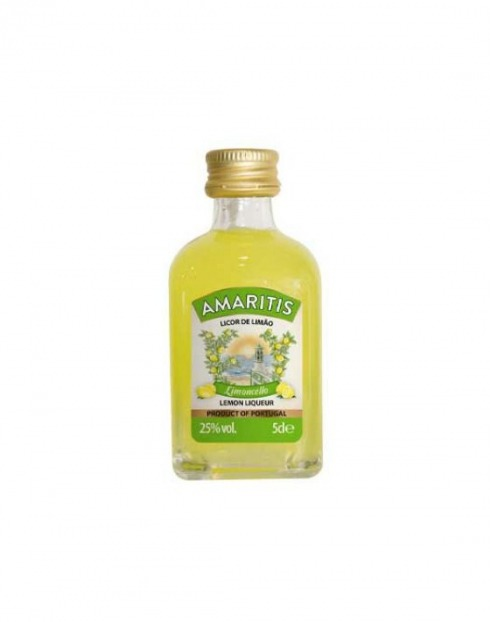 Garcias - Vinhos e Bebidas Espirituosas - LICOR LIMONCELLO AMARITIS MINIATURA 1