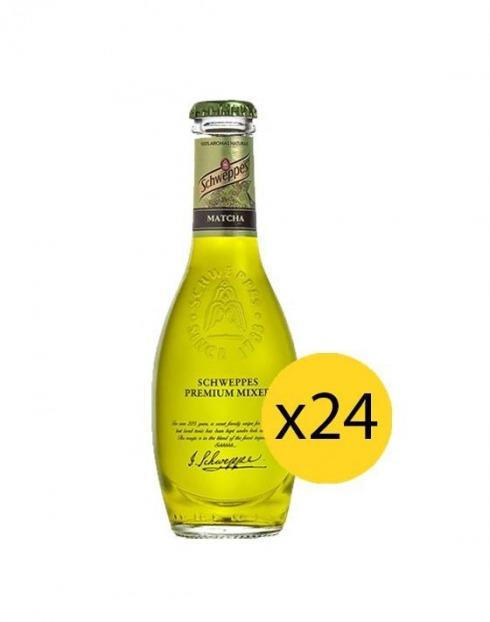 Garcias - Vinhos e Bebidas Espirituosas - ÁGUA TÓNICA SCHWEPPES PREMIUM MATCHA 0,20cl (PACK 24 GFS) 1