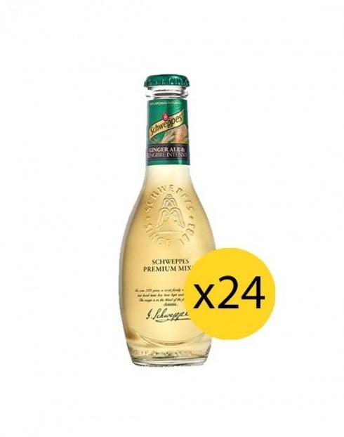 Garcias - Vinhos e Bebidas Espirituosas - ÁGUA TÓNICA SCHWEPPES PREMIUM GINGER ALE 0,20cl (PACK 24 FGS) 1