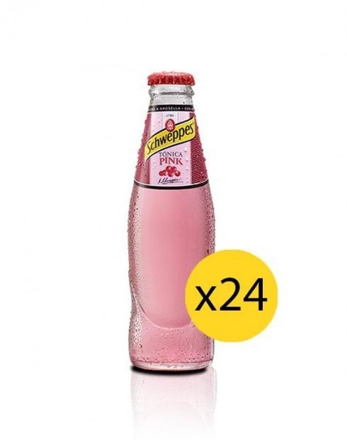 Garcias - Vinhos e Bebidas Espirituosas - ÁGUA TÓNICA SCHWEPPES PINK SIX PACK 0,25cl (PACK 24 GFS) 1