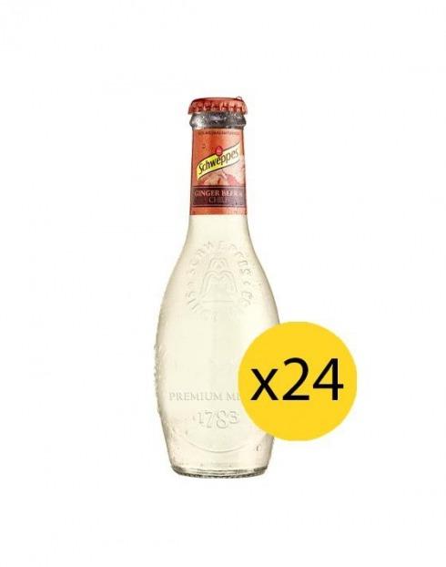 Garcias - Vinhos e Bebidas Espirituosas - ÁGUA TÓNICA SCHWEPPES PREMIUM GINGER BEER 0,20cl (PACK 24 GFS) 1