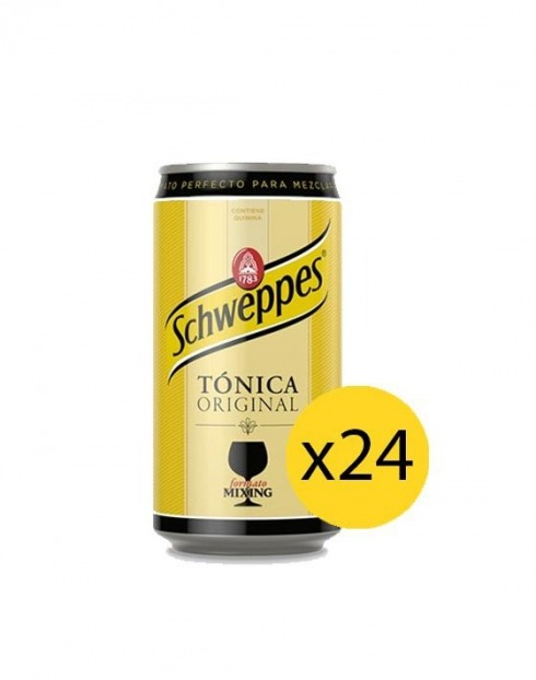 Garcias - Vinhos e Bebidas Espirituosas - ÁGUA TÓNICA SCHWEPPES PACK 8 LATA 0,25cl (PACK 24 GFS) 1