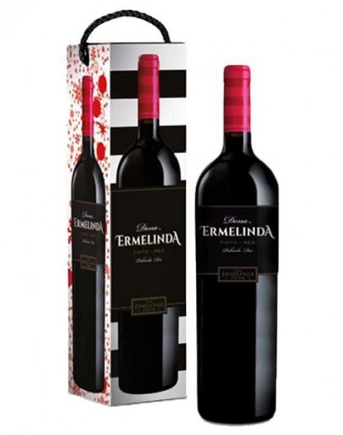 Garcias - Vinhos e Bebidas Espirituosas - VINHO D. ERMELINDA DOC 2017 TINTO CX CARTÃO 1,5L 1