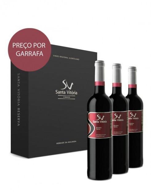 Garcias - Vinhos e Bebidas Espirituosas - VINHO CASA SANTA VITÓRIA RESERVA TINTO 2017 CX.CARTÃO 3 1