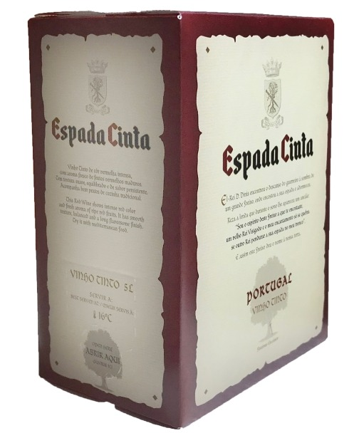 Garcias - Vinhos e Bebidas Espirituosas - ESPADA CINTA TINTO 5L 1