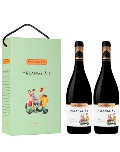 Garcias - Vinhos e Bebidas Espirituosas - VINHO QUINTA CARVALHAIS MELANGE A TROIS CONJ.2GF 1