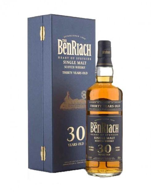 Garcias - Vinhos e Bebidas Espirituosas - WHISKY MALTE BENRIACH  30A C/ESTOJO 1
