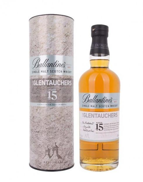 Garcias - Vinhos e Bebidas Espirituosas - WHISKY BALLANTINES 15A GLENTAUCHERS C/ CAIXA 1