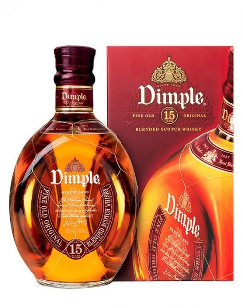 Garcias - Vinhos e Bebidas Espirituosas - WHISKY DIMPLE 15 A C/CX.  1