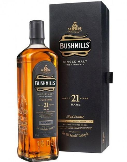 Garcias - Vinhos e Bebidas Espirituosas - WHISKY OLD BUSHMILLS MALTE 21A C/EST. 2014 1