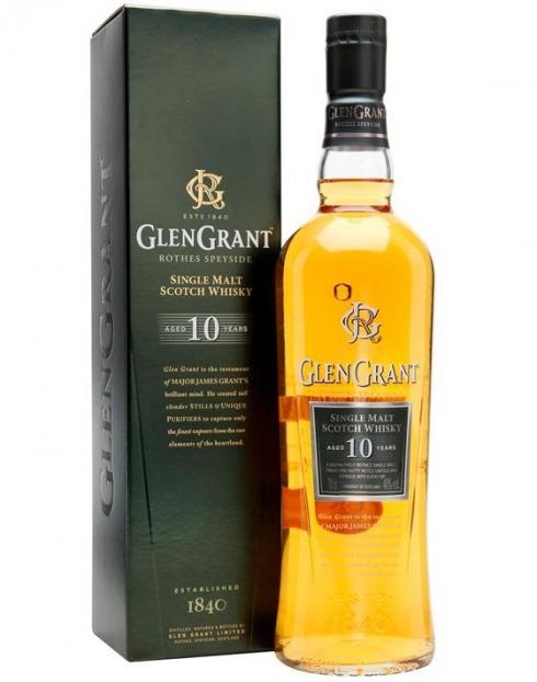 Garcias - Vinhos e Bebidas Espirituosas - WHISKY MALTE GLEN GRANT 10A C/CX 70cl 1