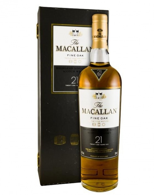 Garcias - Vinhos e Bebidas Espirituosas - WHISKY MALTE MACALLAN FINE OAK 21A C/ CAIXA 1