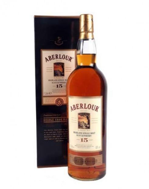 Garcias - Vinhos e Bebidas Espirituosas - WHISKY MALTE ABERLOUR 15A DOUBLE CASK C/CX  1