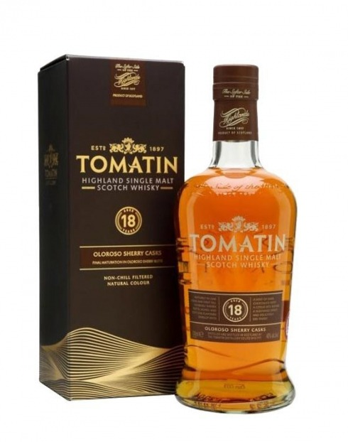 Garcias - Vinhos e Bebidas Espirituosas - WHISKY MALTE TOMATIN 18A C/CX  1