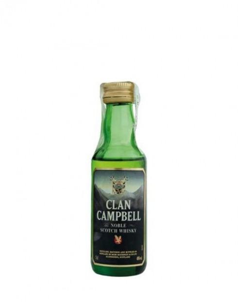 Garcias - Vinhos e Bebidas Espirituosas - WHISKY CLAN CAMPELL MINIATURA 1