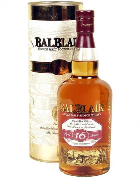 Garcias - Vinhos e Bebidas Espirituosas - WHISKY MALTE BALBLAIR 16 A  C/CX  1