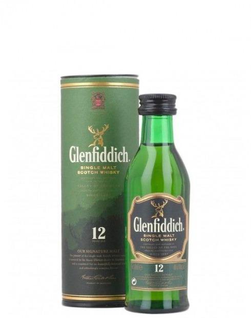 Garcias - Vinhos e Bebidas Espirituosas - WHISKY GLENFIDDICH 12A MINIATURA 1