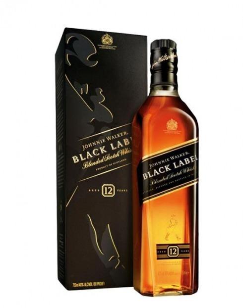 Garcias - Vinhos e Bebidas Espirituosas - WHISKY JOHNNIE WALKER BLACK LABEL C/ CX 1