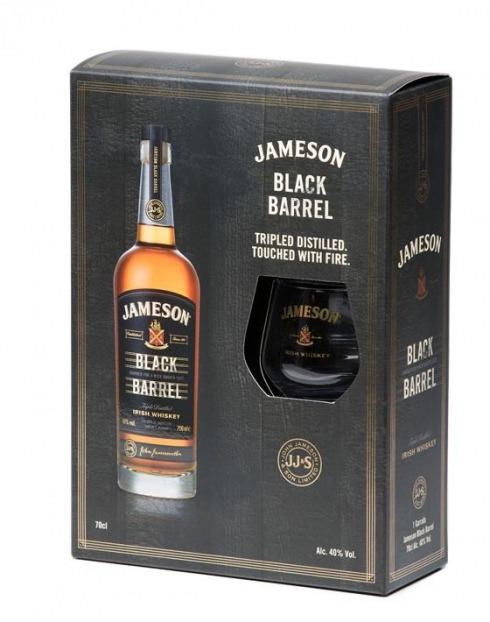 Garcias - Vinhos e Bebidas Espirituosas - WHISKY JAMESON BLACK BARREL C/ COPO 1