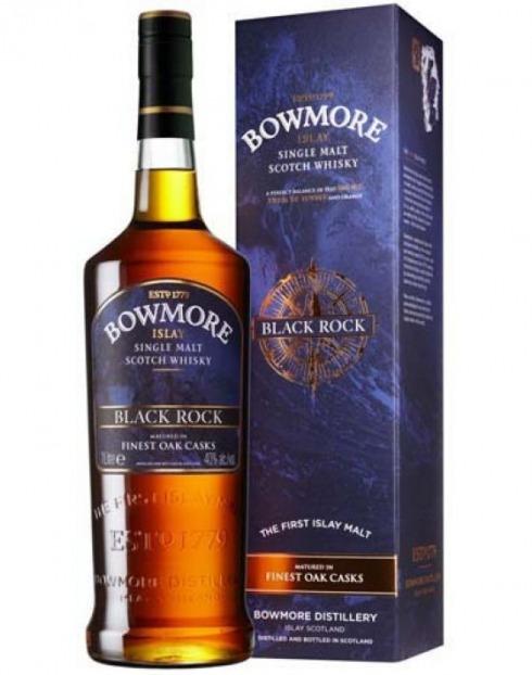 Garcias - Vinhos e Bebidas Espirituosas - WHISKY MALTE BOWMORE BLACK ROCK C/CX  1