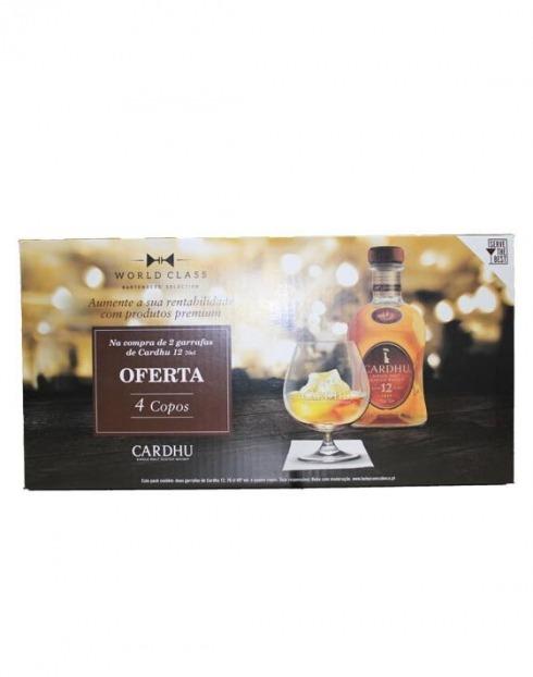 Garcias - Vinhos e Bebidas Espirituosas - WHISKY MALTE CARDHU (2GF 0,70L + 4COPOS) 1