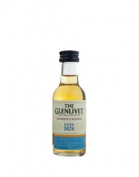 Garcias - Vinhos e Bebidas Espirituosas - WHISKY MALTE GLENLIVET FOUNDERS RESERVE MINIATURA 1