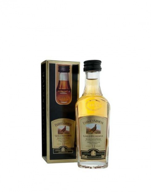 Garcias - Vinhos e Bebidas Espirituosas - WHISKY FAMOUS GROUSE GOLD RES. C/ CAIXA MINIATURA 1
