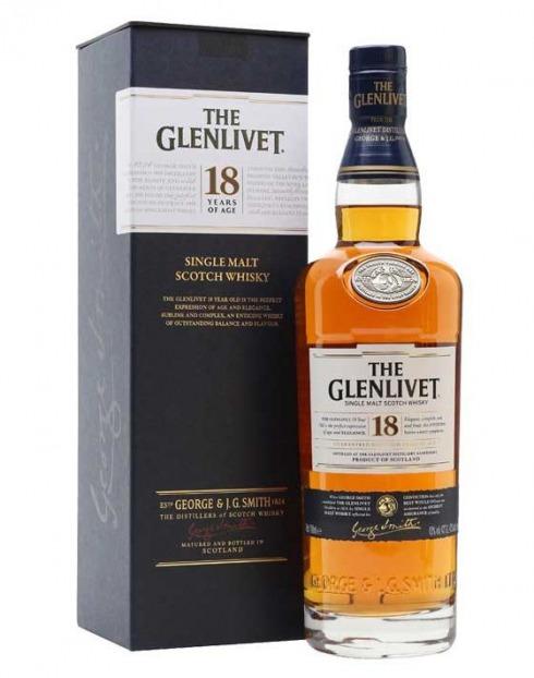 Garcias - Vinhos e Bebidas Espirituosas - WHISKY MALTE GLENLIVET 18A C/ CAIXA 1
