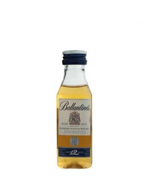 Garcias - Vinhos e Bebidas Espirituosas - WHISKY BALLANTINES 12A MINIATURA 1
