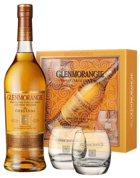 Garcias - Vinhos e Bebidas Espirituosas - WHISKY MALTE GLENMORANGIE 10A C/2 COPOS 1