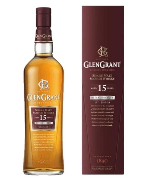 Garcias - Vinhos e Bebidas Espirituosas - WHISKY MALTE GLEN GRANT 15A C/CX  1