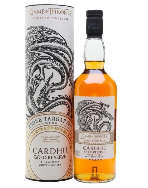 Garcias - Vinhos e Bebidas Espirituosas - WHISKY MALTE CARDHU GOLD RESERVE TARGARYAN GAME OF TRHONES COLLECTION 1